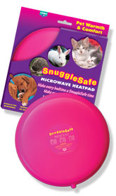 A unique microwave heat pad, designed especially for use in animals' beds.